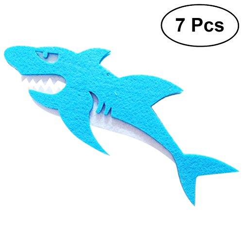 Toyvian 7 stücke Nautische Baby Shower Dekorationen Shark Hängende Ausschnitt für Baby Geburtstag Party Decor (Gelegentliche Farbe)