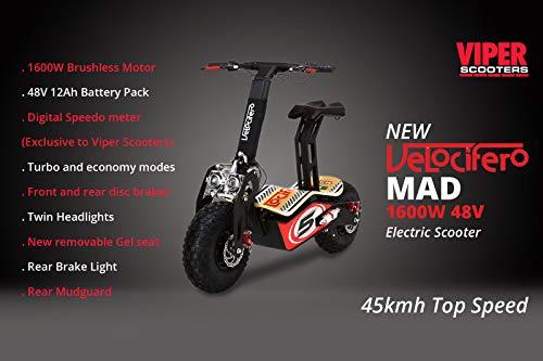 Scooter eléctrico Velocifero Mad (1600W, 48V)