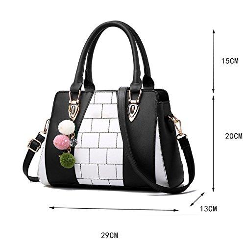 Weibliche Tasche Hit Farbe Europa Und Die Vereinigten Staaten Schulter Diagonale Handtasche,WineRed Gray