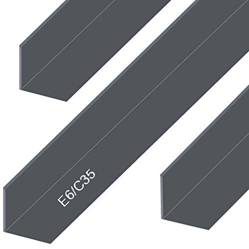 Aluminium Winkel Eloxiert E6/C35 Schwarz Alu Profil L Schiene Aluprofil Winkelprofil Aluwinkel 30x30x2 mm 1000mm