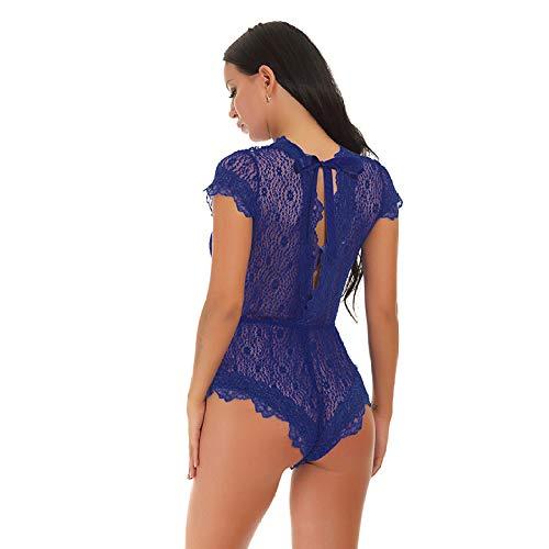 QJXSAN Sexy Dessous Spitze V Kragen Overall, offenen Rücken Puppe Outfit Charakter Spielen süße Dessouskleid Perspektive Paja Mas