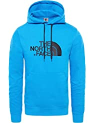 The North Face Drew Peak Felpa con Cappuccio, Uomo, Blu (Bomber Blue/TNF Black), XL