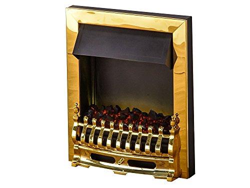 41nB94d9rPL - Adam Blenheim Electric Inset Fire, 2000 W, Brass