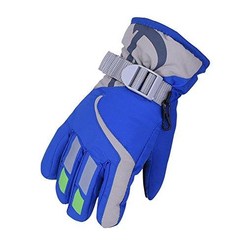 HIMI Skifahren Schnee Handschuhe für Kinder Kleine Königsblau