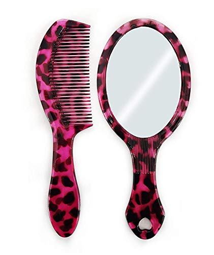 BOXO Portable Make Up Mirror With Hair Comb For Women And Girls, 20 Grams, Pack of 1