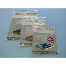 Rhino autoadesivo plastica Book Covers–3Pack (Small) misura (h) 17.8cm x (W) 27cm