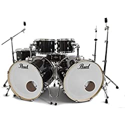 Pearl Export Jet Black Double Bass Drum Kit ROCKEM EXCLUSIVE