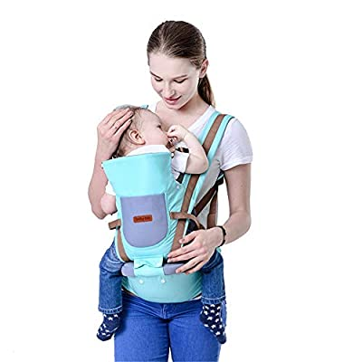 Ergonomic Baby Carrier with Hip Seat – 5 Positions to Carry Your Newborn, Infant, or Toddler – Safe and Comfortable for Child and Moms, Dads