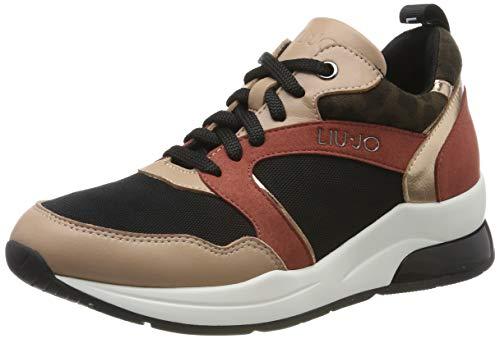 Liu jo shoes karlie 23 sneaker, scarpe da ginnastica basse donna, multicolore (nude 51315), 37 eu
