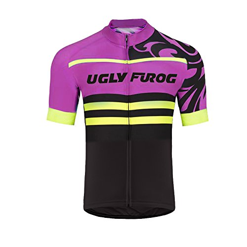 Uglyfrog 2018 Neu Sommer Herren Men's Cycling Jersey Männer Radfahren Short Sleeve Mit Trikots & Shirts Atmungsaktiv Mode Bunt Sport Top (Power Tights Lady 2.0)