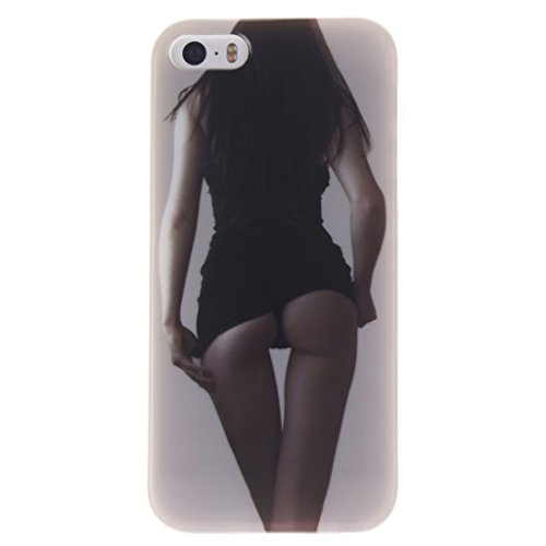 MYTHOLLOGY iphone 5s Coque -iphone 5 /iphone SE Coque, Silicone Doux TPU Protection Housse Cover Case Nuage XGNH