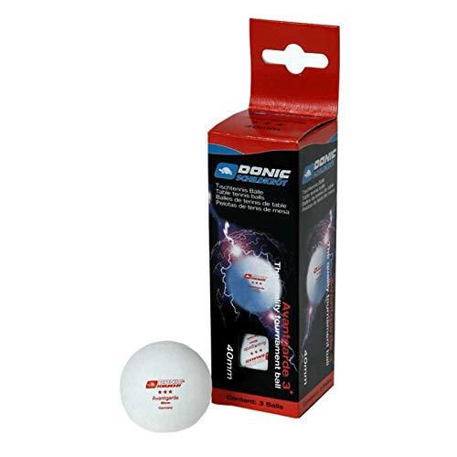 DONIC 67071 Tischtennis-Ball Avantgarde 3-Stern Tischtennisball, Weiß, One Size