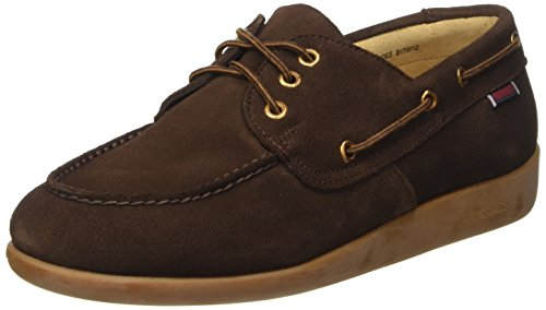 Sebago Gary Jobson Suede Men, Mocassini Uomo, Marrone (Dark Brown), 43 EU