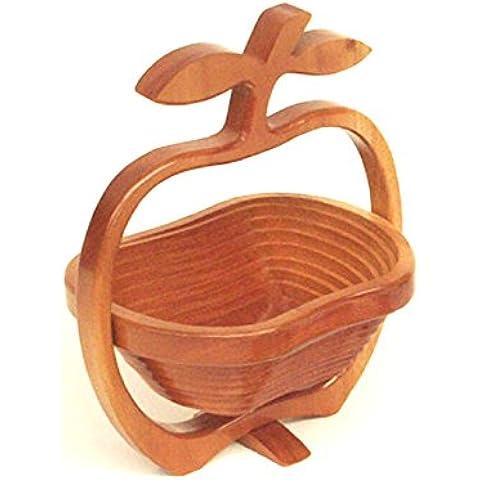 SEG Global a forma di mela, pieghevole, Ciotola per frutta,