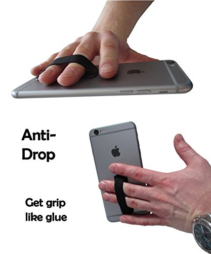 CASE-HERO Premium Smartphone Fingerhalterung | inkl. ERSATZKLEBER | EINHAND Modus für Handy, Tablet, eReader | Hülle & Case | Auto Outdoor Finger Halterung | iPhone 6/7/plus, iPad, Samsung Galaxy... Rosegold