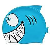 Grenhaven Kinder Badekappe Bademütze Haifisch aus 100% Silicon Schwimmkappe in Verschiedenen Farben