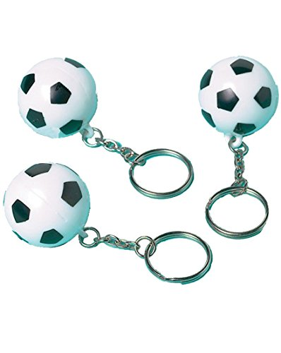amscan Schlüsselanhänger mit Fußball-Anhänger, 12 Stück