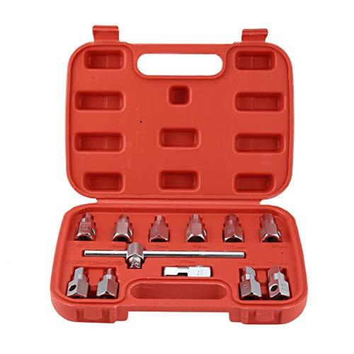12 STÜCKE Ölablasswanne Stopfen Removal Ersatzwerkzeug Steckschlüsselsatz Ölwanne Schraubenschlüssel Getriebe Axel Removal Wrench Kits (farbe: Silber) -