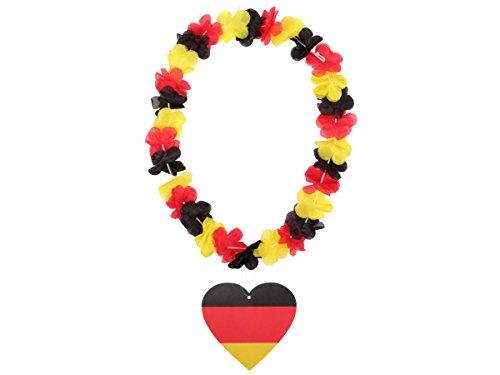 Alsino Hawaiikette Hawaiiketten Deutschland WM/WM Hawaiiketten Blumenketten mit Banner, Variante Wählen:T20073 Herz