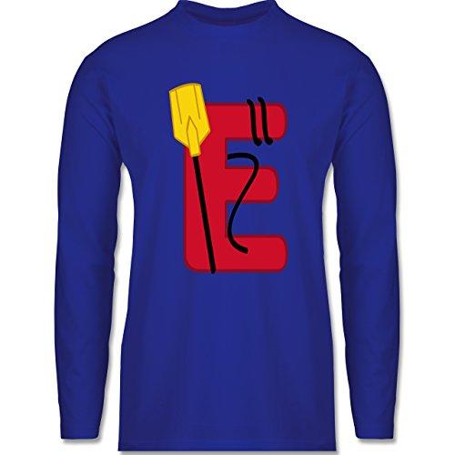 Anfangsbuchstaben - E Schifffahrt - Longsleeve / langärmeliges T-Shirt für Herren Royalblau