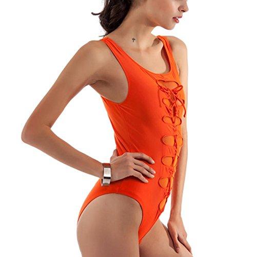 WOCACHI Damen Bikinis Badeanzug reizvolle Badebekleidungs Frauen-Swim Strand Abnutzung Bikinis Swimsuit Bikini Swimwear Orange