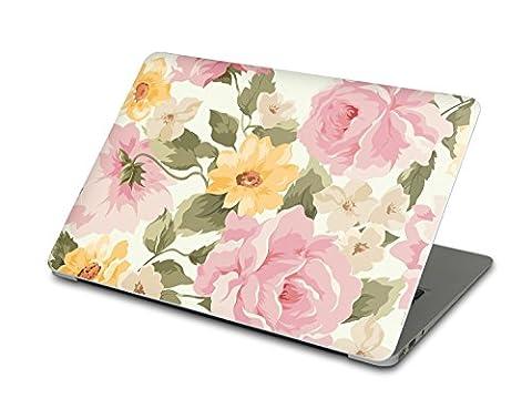 Apple MacBook Air 13 Autocollant | Vinyle sticker skin arrière Ordinateur Portable | Coque de protection - coloré à la mode jolie | Motif Vintage Flowers