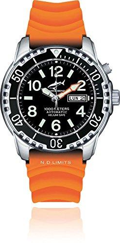 Chris Benz Deep 1000m Helium CB-1000-S-KBO Reloj Automático para hombres Reloj de Buceo