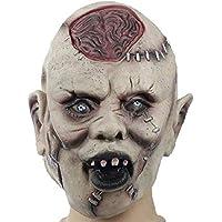 Navidad Halloween Cráneo Cabeza Máscara De Látex, Hombre Adulto Terror Fantasma Divertido Bar Baile Vestido hasta Atrezzo Casa Embrujada Máscara
