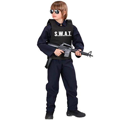 Preisvergleich Produktbild Swat Weste Kinder Kinderkostüm Sondereinheit Einsatzweste Sonderkommando Kostüm Polizei Polizist Karneval