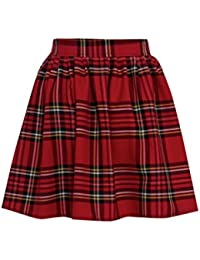 a81ed0b26567e9 Miss Skinny New Womens RED Black Ladies Tartan Skater Mini Skirt  Elasticated Waist Size 8-