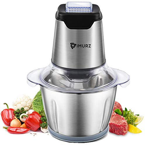 41nBHhTCW7L. SS500  - 1.2L Electric Mini Food Chopper Food Processor Meat Grinder,4 Bi-Level Blades,500 W Stainless Steel Kitchen Mincer for Meat, Vegetables, Fruits, Onion and Nuts,Baby Food