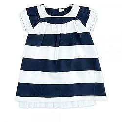 Feetje Baby-mädchen Kleid 514.00164 Blau-weißer Ringel, Gr.80