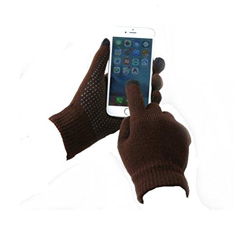 TTD antideslizante guantes de pantalla táctil para los hombresy las mujeres de...
