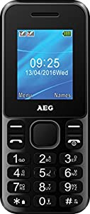 AEG M1220 1.8-Inch Candy Bar UK SIM-Free Mobile Phone with Bluetooth - Black