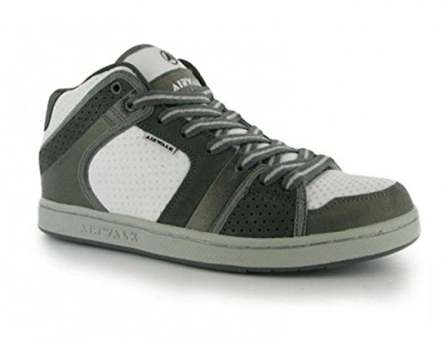 Airwalk Skateboard Schuhe Brian Mid Junior White/Grey/Silver - Sneaker Skate Shoes Mehrfarbig