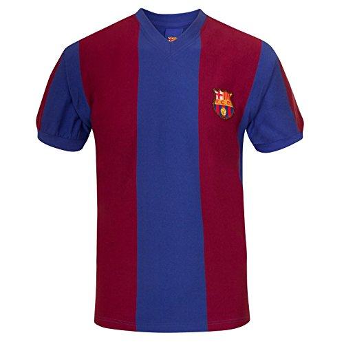 FC Barcelona - Camiseta de la Primera equipación - para Hombre - Producto Oficial Estilo Retro - Temporada 1974/1979 - Azul 79 - M
