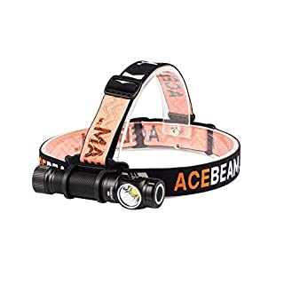 ACEBEAM H15 2500 Lumens CREE XHP70.2 LED 18650 USB Rechargeable Flashlight/Headlamp for Outdoor Camping Hiking Running