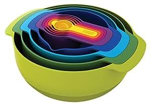 Joseph Joseph - Nest 9 Plus - Set Compact de Bols, Passoires et Doseurs - Multicolore