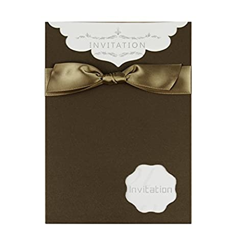 Wedding Invitation Kit Business Personal Invitation Cards Set with Bowknot 10 Count for All