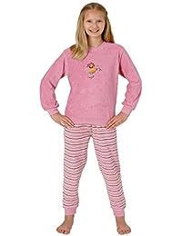 9128b57e79 Mädchen Frottee Pyjama Schlafanzug mit Bündchen und Ballerina Ballet Motiv  53570