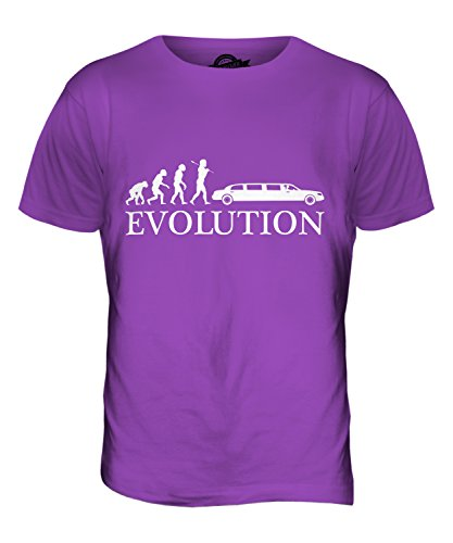 CandyMix Stretch-Limousine Evolution Des Menschen Herren T Shirt Violett