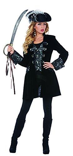 Luxuspiratin Seeräuberin Supreme Mantel Kostüm für Damen