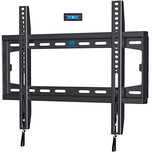 Mounting Dream Fixed TV Wall Mount Bracket for 32-50 Inch Flat Screen OLED LCD LED TVs, TV Mount Supports up to 45.5KG Loading Capacity with VESA from 75x75mm to 400x400mm, Low Profile