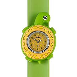 Turtle Watch-3D animals-Multi colour-Easy to read clock-Fashion watches-Time teaching-Children Boys Girls-Splash resistant-Easy snap-on wrist watches-Perfect birthday gifts Christmas gift