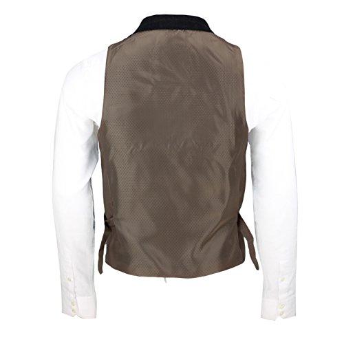 Xposed -  Abito  - Uomo Waistcoat-Collar-Navy Blue