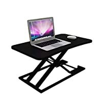 Dxtxx Pneumatic Start Lift Adjustable Laptop Bed Table, Portable Vertical Table, Tablet Stand, Hover Bracket,Black