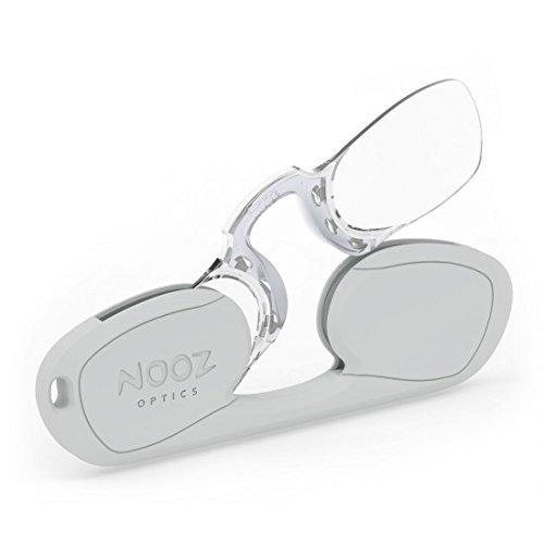 NOOZ - Bügellose Lesebrille Unisex - Silber +1,5 Rechteckig - Immer griffbereit