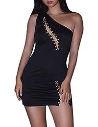 Vestidos para Mujer,Sexy Moda Fiesta Vestido Elegante Slim Fit Vestido de Noche Verano Casual