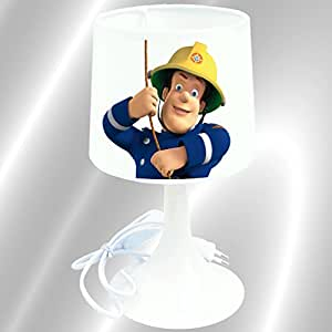 lampe de chevet de cr ation lampe poser enfant sam le pompier cuisine maison. Black Bedroom Furniture Sets. Home Design Ideas