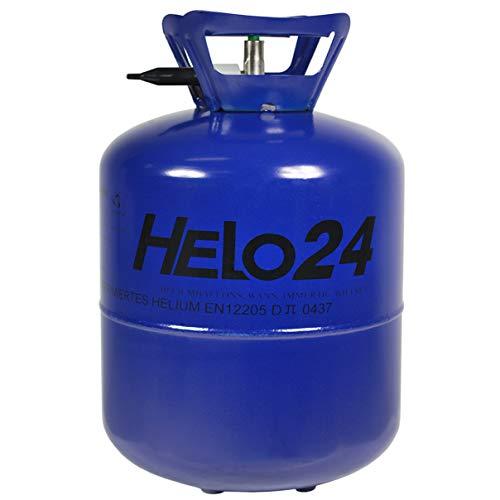 as 0,42m³ (13,4 Liter Flasche) für 50 Ballons, Einweg Helium Gasflasche mit Sperrvorrichtung und Knickventil für einfache Befüllung ()